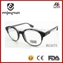 2015 alta calidad ronda acetato gafas ópticas marco gafas clásico