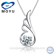 Gros bijoux en argent 2015 nouveau produit pendentif en argent pour femmes avec zircon coloré