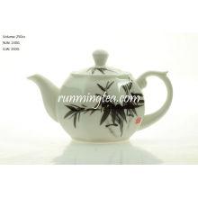 Pote de chá octogonal de bambu de 250 cc