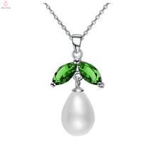 Sterling Silver Green Diamond Stone Necklace Jewellery