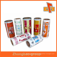 Factory direct sale packaging alminium multi color laminating film roll bags