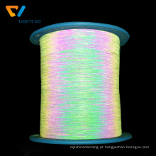 rosca reflexiva iridescente do lado dobro para o knitting