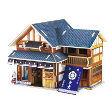 Brinquedos de brinquedos de madeira para casas globais-Japão Tea House