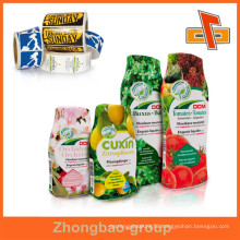 Packaging material made in china wholesale OEM factory customize plastic pvc shrink label for beverage bottles with printing
