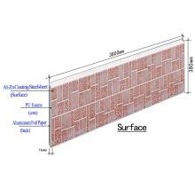 Panel de pared sándwich de PU de metal aislante