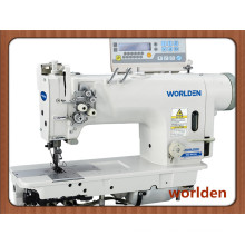 Wd-8422D Electronic High Speed Double Needle Lockstitch Industrial Sewing Machine with Direct Drive