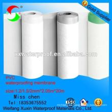 Alta calidad la membrana plástica impermeabilizante de pvc para tejados