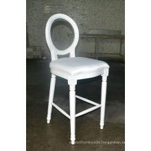 wooden louis bar stool with acrylic backrest XYN258