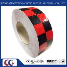 Vermelho e preto Chequer reflexiva da segurança aviso fita conspicuidade (C3500-G)