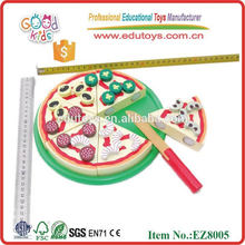 Pizza Food Set Educational Wooden Toys