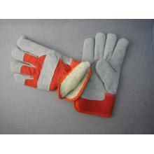 Kuh Split Palm Acryl Flor Winter Leder Arbeit Handschuh-3089
