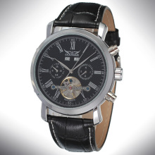 Tourbillon Mens Mineral Glass Wrist Watch Personnalisé