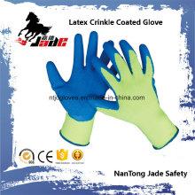 10g Baumwoll Palm Latex Crinkle Coated Sicherheitshandschuh