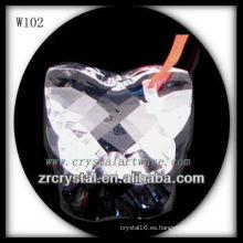 Forma de mariposa Crystal Beads W102