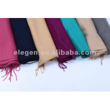 100%ACRYLIC TWILL FABRIC SOLID PLAIN WOVEN SCARF