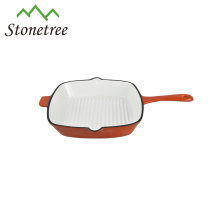 Wholesale New Multifunctional BBQ Cast Iron Enamel Coating Grill Pan