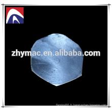 prise hexagonale en acier inoxydable