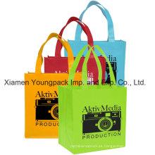 Bolsa de compra textil tejida impresa personalizada