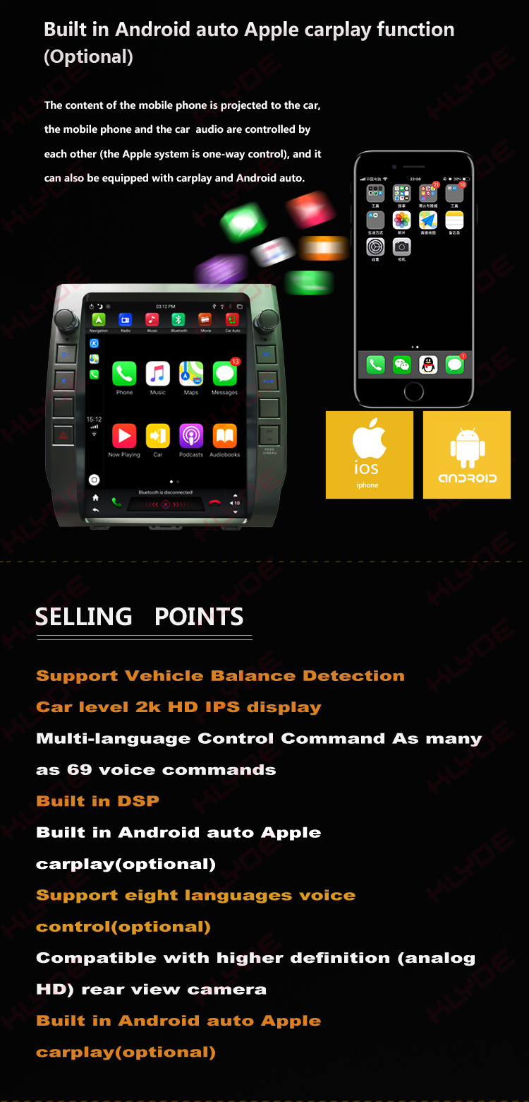 2 din radio android for Toyota Tundra 2015
