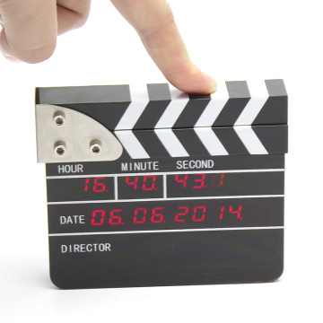 Mini reloj despertador digital de película Clapper