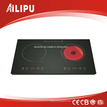 Germany EGO and Schott Built-in 2 Burners Induction Cooker and Infrared Cooker Model Sm-Dic13b2
