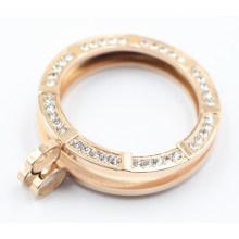 Luxry Memory Locket avec des pierres Swarovski réglables pour cadeau