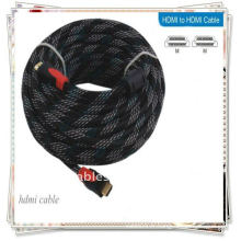 Plaqué or 10 m 32 pieds Hi-Q câble HDMI mâle à mâle câble nylon