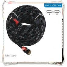 Позолоченный 10M 32-футовый Hi-Q кабель HDMI между мужчинами Нейлон кабеля