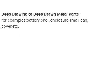 deep drawing deep drawn stamping