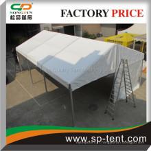 Guangzhou cadre en aluminium petite tente de mariage 6x9m avec fenêtres claires d'église