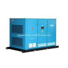 Compresseur d'air électrique stationnaire à deux étages de vis lubrifié (KE132-10II)