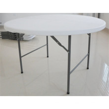 4ft Round Plastic Folding in Half Table