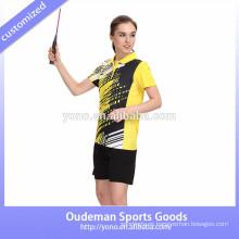 Los más nuevos conjuntos de moda de bádminton uniformes, al por mayor jerseys de voleibol al por mayor de desgaste de bádminton