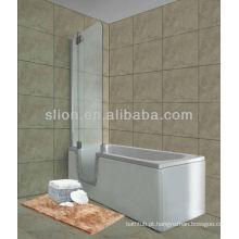 Novo estilo de caminhada em acrílico na banheira para idosos e deficientes de forma retangular
