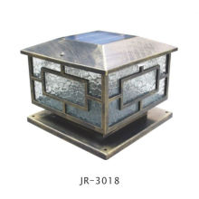 warm light solar crack glass garden light,garden solar bollard light,solar pillar light