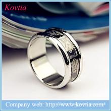 Bagues noires avec anneau en titane de dragon pour homme bijoux en acier inoxydable yiwu