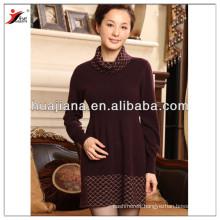 fashion design women's cashmere knitting dress