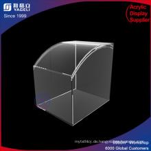 Quadratischer gebogener Oberseiten-Acryl-Vitrine