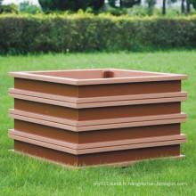 High Quanlity Wood Plastic Composite / WPC Flower Box 500 * 500 * 450