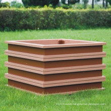 High Quanlity Wood Plastic Composite /WPC Flower Box 500*500*450