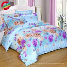 Tela de algodón 100% de lujo impresa 3d juego de cama sábanas