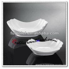 Y203 placa de tazón de porcelana prensado platos de placa de cerámica de porcelana platos de cena al por mayor para bodas