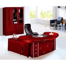 Secretária de escritório circular única, mesa de escritório de rodada moderna