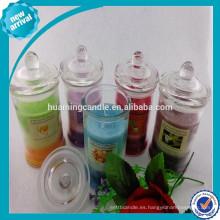 100% natural perfumada vela de soja en tarro de cristal