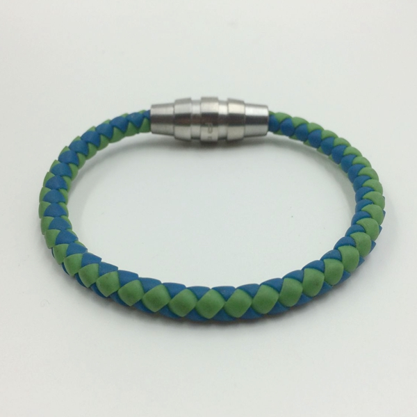 Mens Custom Made Braided Steel Wrapped Rope Bracelets