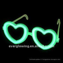lunettes coeur glow stick