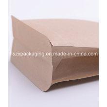 Saco de empacotamento de papel Kraft com alimentos de 3 dimensões