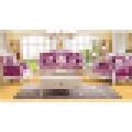 Ensemble de canapé en cuir avec cadre et table en bois (508)