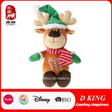 Venta caliente Navidad ciervos regalos felpa rellenos y juguetes suaves
