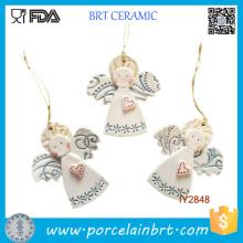 Idées de décoration d'arbre de Noël en céramique Little Angel personnalisés